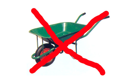 Substituting wheel barrows or belt conveyors